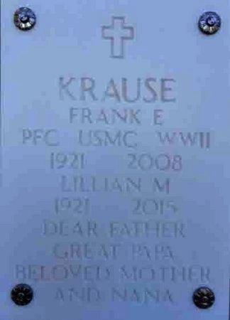 KRAUSE, FRANK E. - Yavapai County, Arizona | FRANK E. KRAUSE - Arizona Gravestone Photos