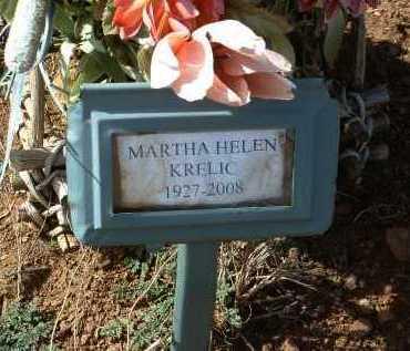 LEWIS KRELIC, MARTHA H. - Yavapai County, Arizona   MARTHA H. LEWIS KRELIC - Arizona Gravestone Photos
