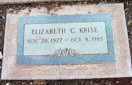 KRISE, ELIZABETH C. - Yavapai County, Arizona | ELIZABETH C. KRISE - Arizona Gravestone Photos
