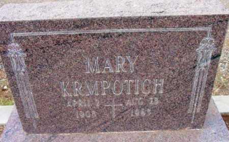 KRMPOTICH, MARY - Yavapai County, Arizona | MARY KRMPOTICH - Arizona Gravestone Photos