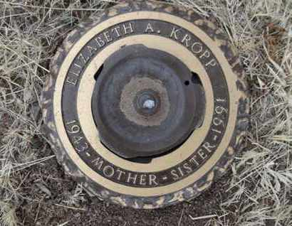 KROPP, ELIZABETH ANNE - Yavapai County, Arizona | ELIZABETH ANNE KROPP - Arizona Gravestone Photos