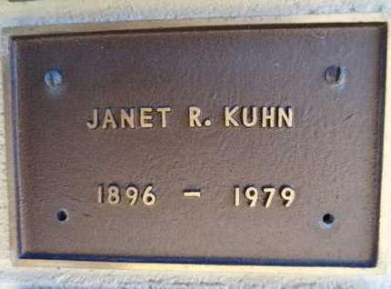 KUHN, JANET R. - Yavapai County, Arizona | JANET R. KUHN - Arizona Gravestone Photos