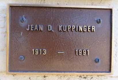 KUPPINGER, JEAN LILLIAN D. - Yavapai County, Arizona   JEAN LILLIAN D. KUPPINGER - Arizona Gravestone Photos