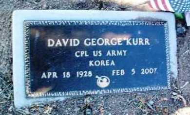 KURR, DAVID GEORGE - Yavapai County, Arizona | DAVID GEORGE KURR - Arizona Gravestone Photos