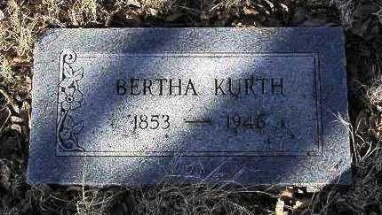 KURTH, BERTHA - Yavapai County, Arizona | BERTHA KURTH - Arizona Gravestone Photos