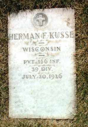 KUSSE, HERMAN F. - Yavapai County, Arizona   HERMAN F. KUSSE - Arizona Gravestone Photos