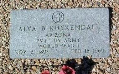 KUYKENDALL, ALVA B. - Yavapai County, Arizona | ALVA B. KUYKENDALL - Arizona Gravestone Photos
