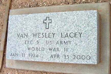 LACEY, VAN WESLEY - Yavapai County, Arizona   VAN WESLEY LACEY - Arizona Gravestone Photos