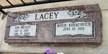 LACEY, VAN WESLEY - Yavapai County, Arizona | VAN WESLEY LACEY - Arizona Gravestone Photos