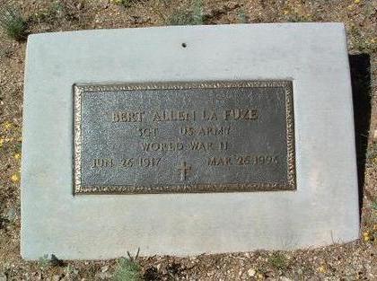 LAFUZE, BERT ALLEN - Yavapai County, Arizona | BERT ALLEN LAFUZE - Arizona Gravestone Photos