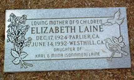 LAINE, ELIZABETH - Yavapai County, Arizona | ELIZABETH LAINE - Arizona Gravestone Photos