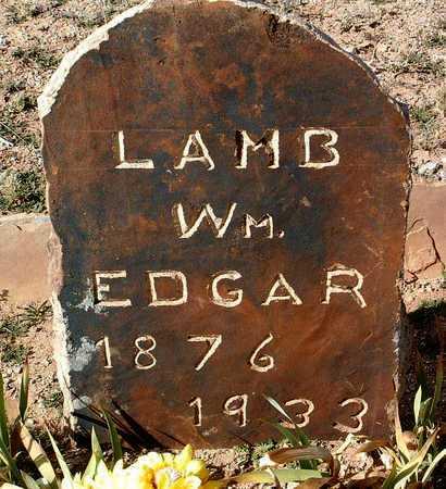 LAMB, WILLIAM EDGAR - Yavapai County, Arizona   WILLIAM EDGAR LAMB - Arizona Gravestone Photos