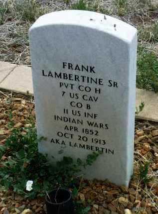 LAMBERTINE, FRANK, SR. - Yavapai County, Arizona | FRANK, SR. LAMBERTINE - Arizona Gravestone Photos
