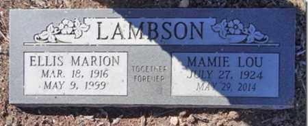 LAMBSON, MAMIE LOU - Yavapai County, Arizona | MAMIE LOU LAMBSON - Arizona Gravestone Photos