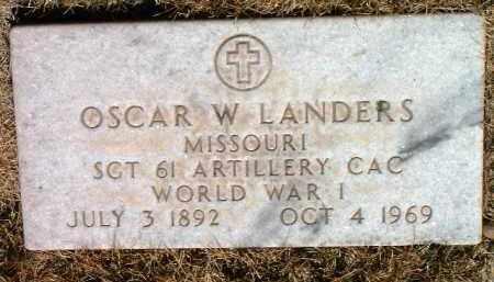 LANDERS, OSCAR W. - Yavapai County, Arizona | OSCAR W. LANDERS - Arizona Gravestone Photos