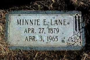 LANE, MINNIE ELLEN - Yavapai County, Arizona   MINNIE ELLEN LANE - Arizona Gravestone Photos