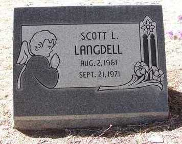 LANGDELL, SCOTT L. - Yavapai County, Arizona | SCOTT L. LANGDELL - Arizona Gravestone Photos