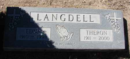 LANGDELL, THERON WESLEY - Yavapai County, Arizona | THERON WESLEY LANGDELL - Arizona Gravestone Photos