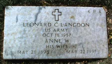 LANGDON, LEONARD C. - Yavapai County, Arizona   LEONARD C. LANGDON - Arizona Gravestone Photos