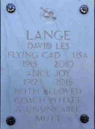 LANGE, ALICE JOY - Yavapai County, Arizona | ALICE JOY LANGE - Arizona Gravestone Photos