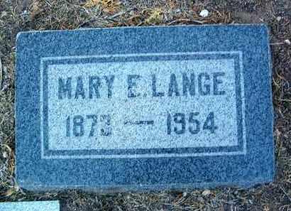 LARREMORE LANGE, MARY - Yavapai County, Arizona | MARY LARREMORE LANGE - Arizona Gravestone Photos