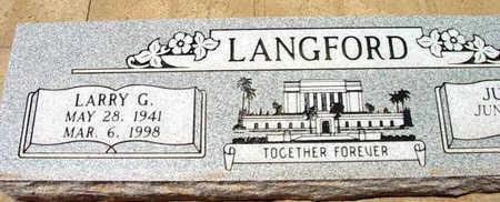 LANGFORD, LARRY G. - Yavapai County, Arizona | LARRY G. LANGFORD - Arizona Gravestone Photos