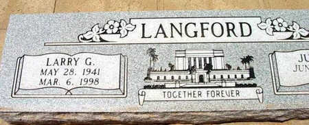 LANGFORD, LARRY GEORGE - Yavapai County, Arizona | LARRY GEORGE LANGFORD - Arizona Gravestone Photos