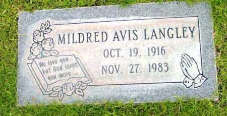 LANGLEY, MILDRED AVIS - Yavapai County, Arizona | MILDRED AVIS LANGLEY - Arizona Gravestone Photos