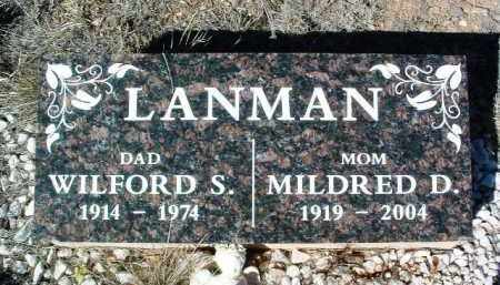 LANMAN, WILFORD S. - Yavapai County, Arizona | WILFORD S. LANMAN - Arizona Gravestone Photos