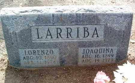 LARRIBA, LORENZO L. - Yavapai County, Arizona | LORENZO L. LARRIBA - Arizona Gravestone Photos