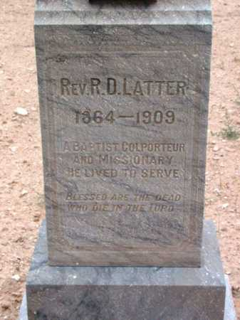 LATTER, R. D.  (REV.) - Yavapai County, Arizona | R. D.  (REV.) LATTER - Arizona Gravestone Photos