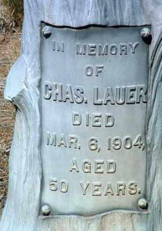 LAUER, CHARLES (CHARLEY) - Yavapai County, Arizona | CHARLES (CHARLEY) LAUER - Arizona Gravestone Photos