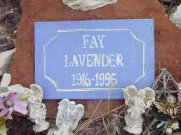 LAVENDER, FAY - Yavapai County, Arizona | FAY LAVENDER - Arizona Gravestone Photos