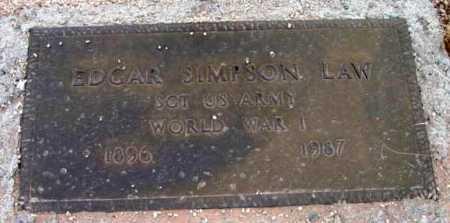 LAW, EDGAR SIMPSON - Yavapai County, Arizona | EDGAR SIMPSON LAW - Arizona Gravestone Photos