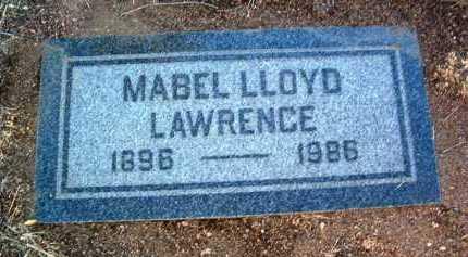 LLOYD LAWRENCE, MABEL - Yavapai County, Arizona | MABEL LLOYD LAWRENCE - Arizona Gravestone Photos
