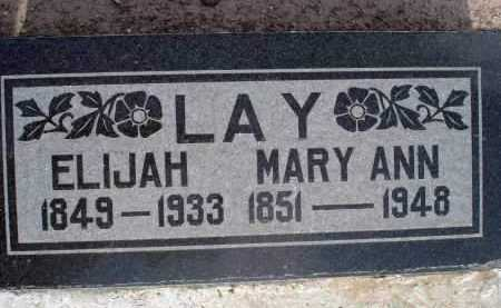 LAY, MARY ANN - Yavapai County, Arizona | MARY ANN LAY - Arizona Gravestone Photos