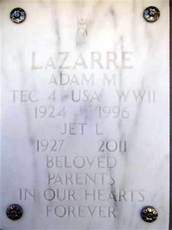 MACDONALD LAZARRE, JET L. - Yavapai County, Arizona | JET L. MACDONALD LAZARRE - Arizona Gravestone Photos