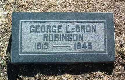 ROBINSON, GEORGE LEBRON - Yavapai County, Arizona   GEORGE LEBRON ROBINSON - Arizona Gravestone Photos