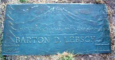 LEBSCH, BARTON D. - Yavapai County, Arizona | BARTON D. LEBSCH - Arizona Gravestone Photos