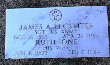 LECKLITER, RUTH IONE - Yavapai County, Arizona | RUTH IONE LECKLITER - Arizona Gravestone Photos