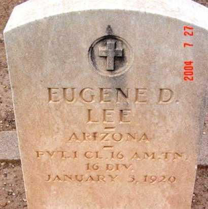 LEE, EUGENE DELMAR - Yavapai County, Arizona   EUGENE DELMAR LEE - Arizona Gravestone Photos