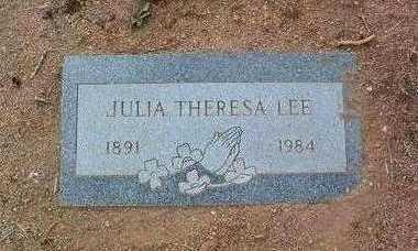 LEE, JULIA THERESA - Yavapai County, Arizona | JULIA THERESA LEE - Arizona Gravestone Photos