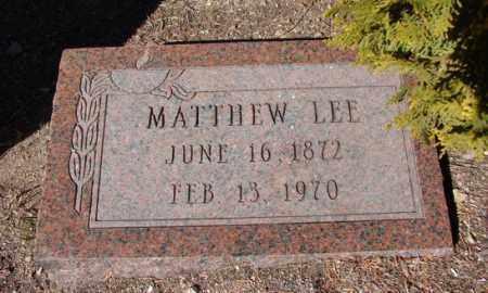 LEE, MATTHEW - Yavapai County, Arizona | MATTHEW LEE - Arizona Gravestone Photos
