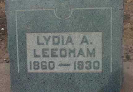 SWAN LEEDHAM, LYDIA A. - Yavapai County, Arizona | LYDIA A. SWAN LEEDHAM - Arizona Gravestone Photos