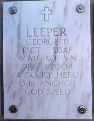 LEEPER, GEORGE T. - Yavapai County, Arizona   GEORGE T. LEEPER - Arizona Gravestone Photos