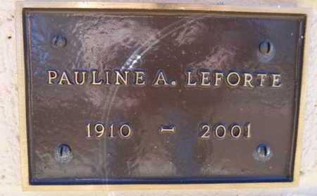 OLSON LEFORTE, PAULINE A. - Yavapai County, Arizona | PAULINE A. OLSON LEFORTE - Arizona Gravestone Photos