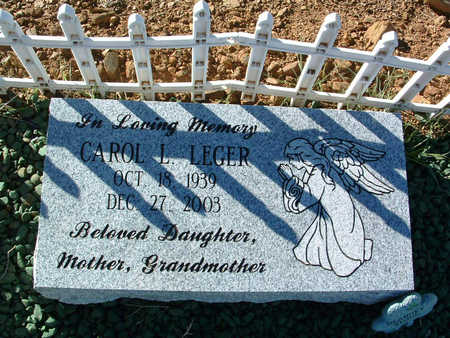 LEGER, CAROL LOUISE - Yavapai County, Arizona | CAROL LOUISE LEGER - Arizona Gravestone Photos