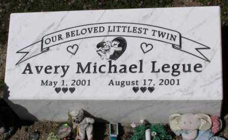 LEGUE, AVERY MICHAEL - Yavapai County, Arizona | AVERY MICHAEL LEGUE - Arizona Gravestone Photos