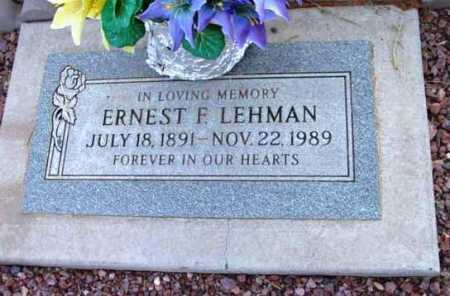 LEHMAN, ERNEST FRANKLIN - Yavapai County, Arizona | ERNEST FRANKLIN LEHMAN - Arizona Gravestone Photos