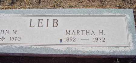 LEIB, MARTHA H. - Yavapai County, Arizona | MARTHA H. LEIB - Arizona Gravestone Photos